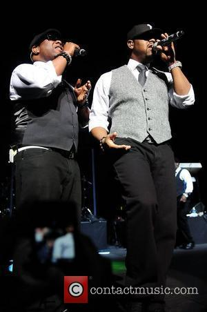 Shawn Stockman, Nathan Morris of Boyz II Men Best of the '90s Concert held at James L. Knight Center...