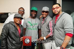 Shawn Stockman of Boyz II Men and R&B group Entrance  backstage during the Best of the '90s Concert held...