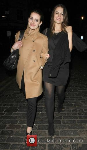 Kirsty Gallacher and Susie Amy leave The Box Club in Soho London, England - 12.03.11