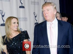 Marlee Matlin and Donald Trump