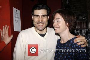 Louis Cancelmi and Julianne Nicholson Opening night after party for the Off-Broadway production of The 'Hallway Trilogy: Nursing' held at...