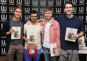 James Buckley, Blake Harrison, Joe Thomas, Simon Bird and Waterstone's In Piccadilly