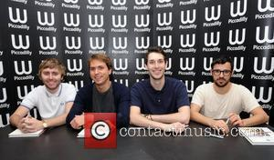 Joe Thomas, Blake Harrison, James Buckley, Simon Bird and Waterstone's In Piccadilly
