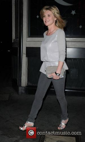 Anthea Turner outside the Ivy restaurant after having dinner London, England - 03.06.11