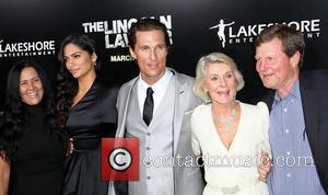 Camila Alves, Matthew McConaughey and his mother Kay McCabeat with Rooster McConaughey Screening Of Lionsgate & Lakeshore Entertainment's 'The Lincoln...