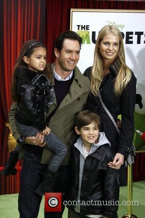 Mark-Paul Gosselaar, son Michael, daughter Ava and Catriona McGinn The premiere of Walt Disney Pictures' 'The Muppets' at the El...