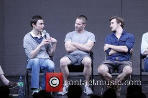 Jim Parsons, Luke Macfarlane and Lee Pace Post-show talk back with the cast of the Broadway production 'The Normal Heart'...