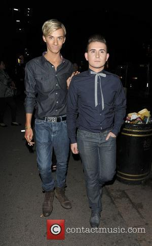 Harry Derbidge and his boyfriend Kurt Evans leaving The Only Way Is Essex: Official Wrap Party, held at The Penthouse...