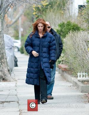 Poppy Montgomery The cast of 'The Rememberer' film on location in Queens New York City, USA - 04.04.11