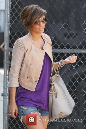 Frankie Sandford,  of The Saturdays return to their hotel from a dance rehearsal Los Angeles, California - 06.04.11
