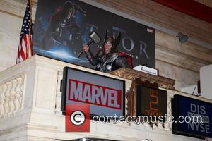 Marvel's iconic super hero The Mighty Thor rings the closing bell at the New York Stock Exchange New York City,...