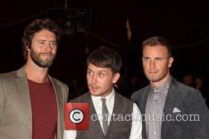 Howard Donald, Mark Owen and Gary Barlow of Take That 'The Three Musketeers' UK film premiere - Arrivals London, England...