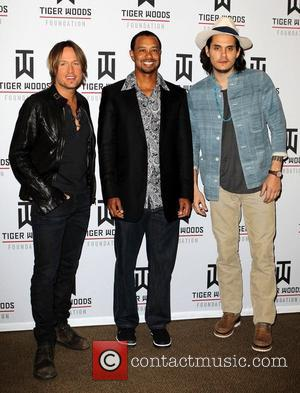 Keith Urban, John Mayer and Tiger Woods