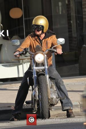 Timothy Olyphant out riding his motorcycle in Hollywood Los Angeles, California - 03.02.11