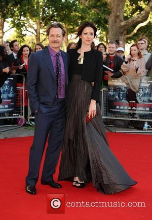 Gary Oldman and Alexandra Edenborough The London Premiere of 'Tinker, Tailor, Soldier, Spy' held at BFI Southbank  London, England...