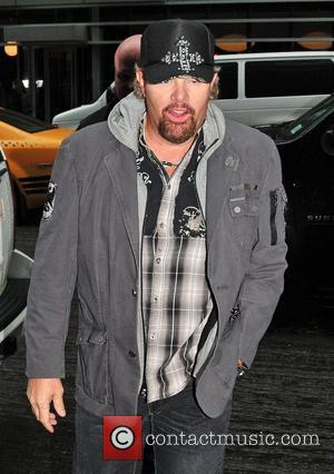 Toby Keith country music star arriving at Time Warner Cable studios in Manhattan New York City, USA - 27.10.11