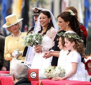 Meredith Vieira, Ann Curry and Natalie Morales dress up as British Royals for a Halloween themed 'Today Show' at the...