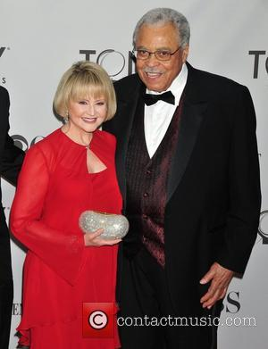 James Earl Jones (R.) and wife Cecelia Hart The 65th Annual Tony Awards held at Beacon Theatre - Arrivals...