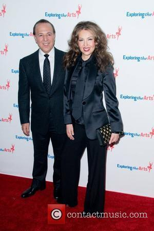 Tommy Mottola and Thalia  attending the Tony Bennett 85th Birthday Gala Benefit for Exploring the Arts at the Metropolitan...