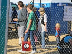 Dean McDermott, wife Tori Spelling, their son Liam and Dean's son Jack McDermott  leaving the Chilli Cook Off at...
