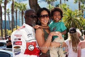 Hounsou's Baby Son Is Already Bilingual