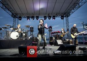 Train perform live at Chelsea Piers sponsored by Lipton Ice Tea and Pandora Internet Radio New York City, USA -...