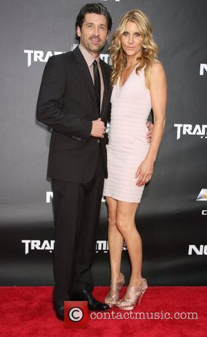 Patrick Dempsey, Jill Fink New York premiere of 'Transformers: Dark of the Moon' at TKS Time Square - Arrivals New...