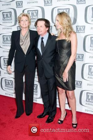 Meredith Baxter, Michael J. Fox and Tracy Pollan (right),  at the 9th Annual TV Land Awards at the Javits...