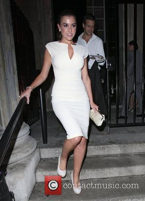 Imogen Thomas leaving The UK Lingerie Awards held at One Mayfair London, England - 07.09.11