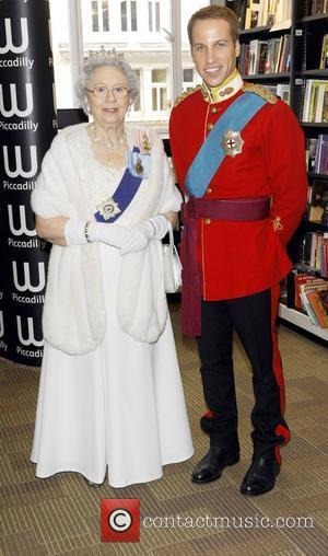 Queen Elizabeth II and Prince William look-a-likes  British Royal look-a-likes attend the launch of Alison Jackson's new book 'Kate...