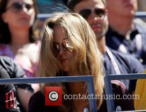 Kim Sears attends the match between Andy Murray, GBR and John Isner, USA, Friday September 09, 2011, on Day 12...