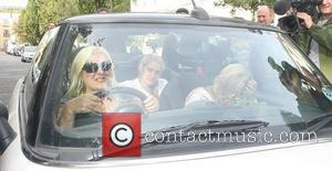 Vanessa Feltz driving her convertible Mini Cooper in St. John's Wood London, England - 09.10.11