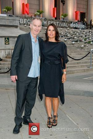 John McEnroe and Patty Smith 2011 Tribeca Film Festival Vanity Fair party at the State Supreme Courthouse New York City,...