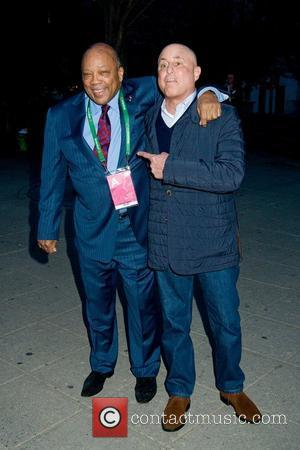 Quincy Jones and Ron Perelman 2011 Tribeca Film Festival Vanity Fair party at the State Supreme Courthouse New York City,...