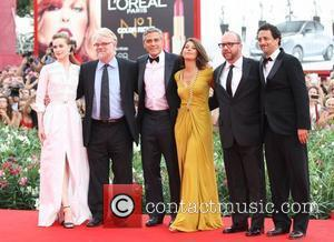 Evan Rachel Wood, George Clooney, Grant Heslov, Marisa Tomei, Paul Giamatti and Philip Seymour Hoffman