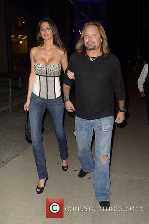 Vince Neil arriving at BOA Steakhouse with a new girlfriend for dinner Los Angeles, California - 19.04.11