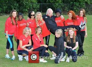 Richard Branson, Chloe Madeley, Melanie C, Michelle Heaton, Nell Mcandrew, Olivia Hallinan and Susie Amy