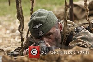 War and Peace Show 2011 at Hop Farm in Kent  Men and women reenact scenes and battles from the...