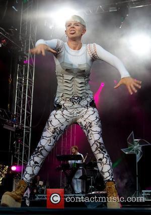 Robyn  performing at the Way out West Festival held at Slottskogen Gothenburg  Gothenburg, Sweden 12.08.11