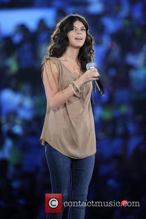 Nikki Yanofsky  performs on stage during 'WE Day' at the Air Canada Centre. Toronto, Canada - 27.09.11...