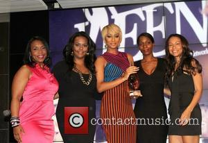 Keri Hilson and Time Warner Building