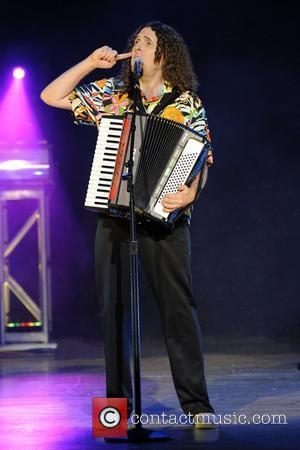 'Weird Al' Yankovic  performs on stage at Massey Hall as part of his 'Alpocolyptic' Tour Toronto, Canada - 16.7.11