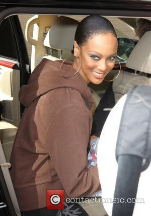 Tyra Banks outside Fox studios after 'The Wendy Williams Show' New York City, USA - 20.10.11