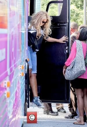 Wendy Williams greets the crowd as she arrives for the kick off of her 'Say It Like You Mean It...