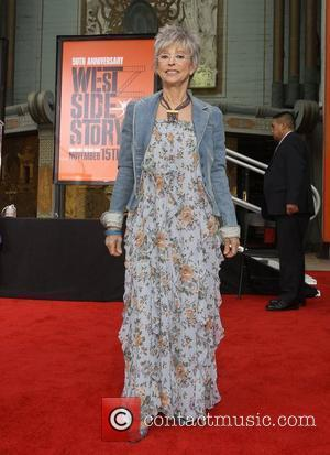 Rita Moreno Hand and footprint ceremony celebrating the 50th anniversary of 'West Side Story' at Grauman's Chinese Theatre Los Angeles,...