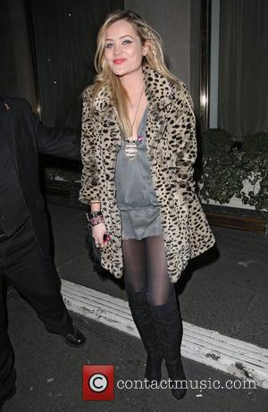 MTV presenter Laura Whitmore,  MTV Staying Alive Fundraising at the Westbury Hotel - Departures. London, England - 27.01.11