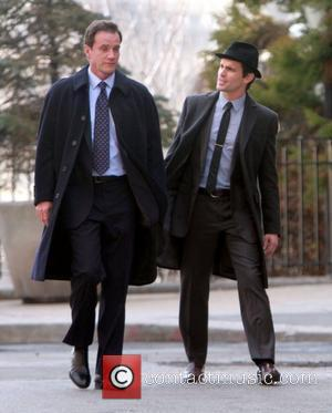 Tim DeKay and Matthew Bomer shooting on location for 'White Collar' New York City, USA - 18.03.11