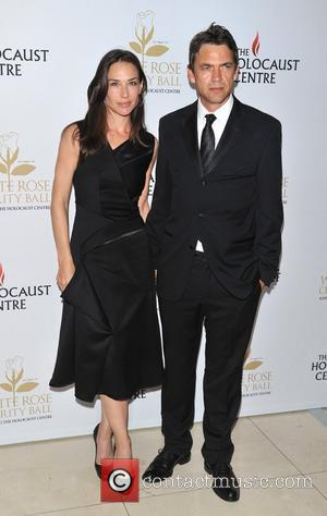 Claire Forlani and Dougray Scott White Rose charity ball held at the Park Plaza Riverside - Arrivals. London, England -...