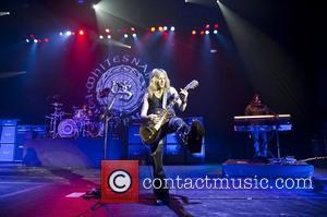 Doug Aldrich performing with Whitesnake at the HMV Hammersmith Apollo London England 20.06.11