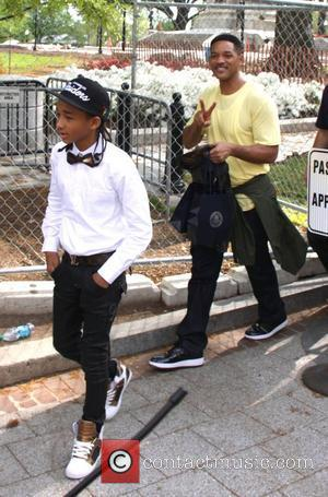 Jaden Smith and Will Smith,  leaving the White House after a soundcheck for the Easter Egg Hunt concert. Washington...
